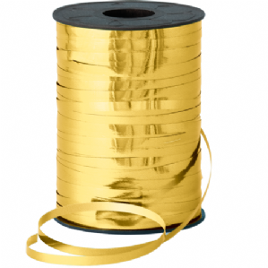 Metallic Gold Ribbon for Balloons (250m x 5mm)